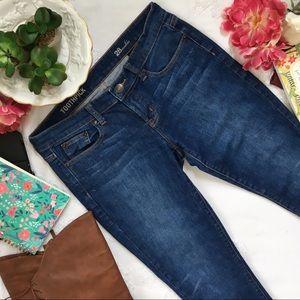 J. Crew Toothpick Denim Ankle Crop Jeans